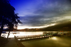 View of the famous Sun Moon Lake. In Taiwan royalty free stock photos
