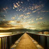 View of the famous Sun Moon Lake. In Taiwan stock image