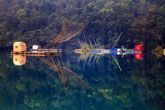 A view of the famous Sun Moon Lake. In Taiwan for adv or others purpose ues stock photography