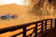 A view of the famous Sun Moon Lake. In Taiwan for adv or others purpose ues royalty free stock photo