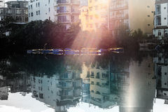 View of the famous Sun Moon Lake in Taiwan. For adv or others purpose use royalty free stock image