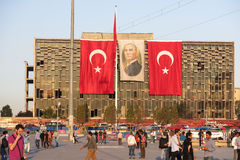 View of famous Taksim square in Istambul. Turkey Royalty Free Stock Image