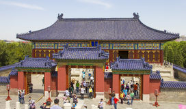 View of the famous Temple of Heaven Stock Images