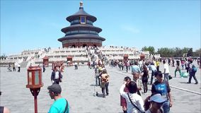 View of the famous Temple of Heaven in Beijing, China stock video footage