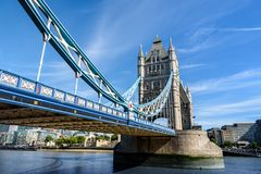 Tower Bridge over the River Thames, London, UK, England Royalty Free Stock Photo
