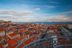 View from the famous tower on the Tejo river Royalty Free Stock Photo