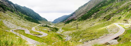 View of famous Transfagarasan Highway in Romania Stock Image