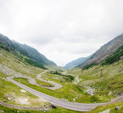 View of famous Transfagarasan Highway in Romania Stock Images