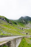 View of famous Transfagarasan Highway in Romania Royalty Free Stock Photos