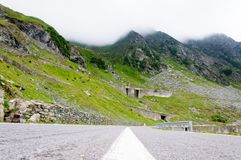 View of famous Transfagarasan Highway in Romania Stock Photos