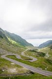 View of famous Transfagarasan Highway in Romania Royalty Free Stock Photography