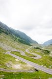 View of famous Transfagarasan Highway in Romania Royalty Free Stock Image