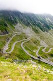 View of famous Transfagarasan Highway in Romania Royalty Free Stock Images