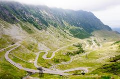 View of famous Transfagarasan Highway in Romania Stock Photo