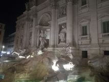 View of the famous Trevi fountain in Rome stock images