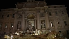 View of the famous Trevi fountain in Rome stock footage