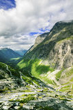 View on famous Trollstigen. At Norway Stock Photo