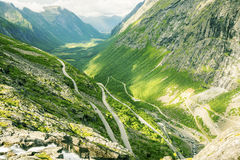 View on famous Trollstigen. At Norway Royalty Free Stock Images