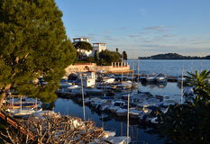 View on famous villa Kerylos, Beaulieu-sur-Mer, French Riviera, France Royalty Free Stock Image