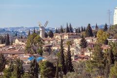 View of Famous Windmill, Jerusalem Stock Image