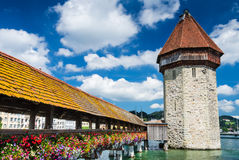 Chapel Bridge in Luzern, Switzerland Royalty Free Stock Photography