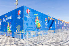 View of the fan zone for the Eurocup 2016  in the Place Massena, Nice, France Stock Image