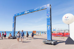 View of the fan zone for the Eurocup 2016 in the Promenade des Anglais, Nice, France Royalty Free Stock Image