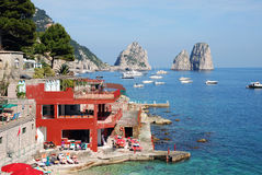 View of Faraglioni of Capri, Italy Royalty Free Stock Photos
