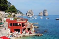 View of Faraglioni of Capri, Italy royalty free stock photos