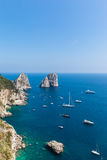 View of Faraglioni cliffs and the Tyrrhenian sea Stock Image