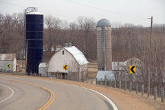 A View of a Farm from a County Road Royalty Free Stock Image