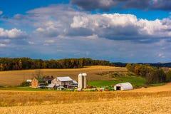 View of a farm near Glen Rock, Pennsylvania. Stock Image
