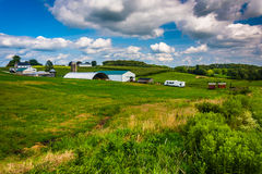 View of a farm in rural Baltimore County, Maryland. Stock Images