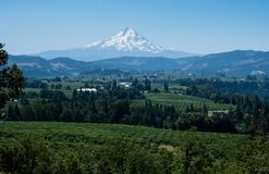 Mount Hood in Oregon state, USA stock image