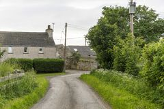 View of farms in thurso surrounding Stock Images