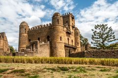 View at the Fasilides castle Stock Photography