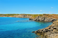 View of Favaritx coast in Menorca, Spain Stock Photo