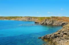 View of Favaritx coast in Menorca, Spain Stock Photo
