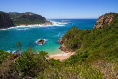 View of Featherbed, Knysna, Featherbed Nature Reserve. Garden Route, Western Cape, South Africa Royalty Free Stock Photos