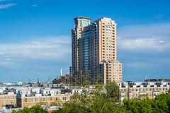 View from Federal Hill Park, in Baltimore, Maryland.  royalty free stock images