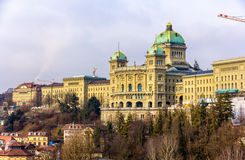 View of the Federal Palace of Switzerland (Bundeshaus) Stock Photos