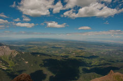 View from 14,000 Feet Above Colorado Mount Sneffels Summit View. Over the telluride , Colorado and Aspen , Colorado San Juan Mountain Range in the glorious and Royalty Free Stock Image