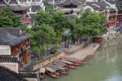 View of Fenghuang ancient city. Stock Images