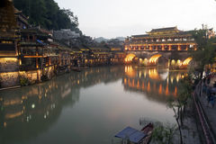 View of Fenghuang ancient city. Royalty Free Stock Photography
