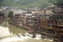 View of Fenghuang ancient city. Stock Photos