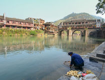 View of Fenghuang Ancient town, China Stock Photo