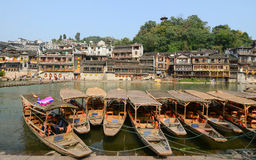View of Fenghuang Ancient town, China Stock Images