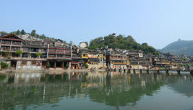 View of Fenghuang Ancient town, China Stock Photography