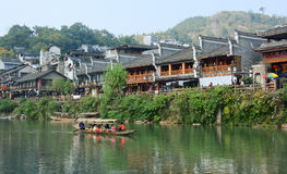 View of Fenghuang Ancient town, China Royalty Free Stock Photos
