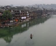 View of the Fenghuang Ancient Town in China Stock Images